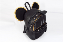 Additional picture of Малка кожена раница Mickey Luxury