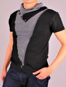 Additional picture of Тениска V-Neck Black